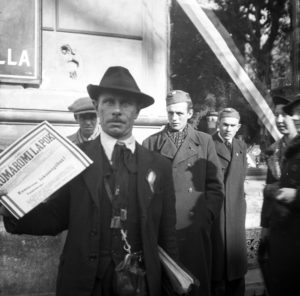 1938. Szlovákia, Komárom a magyar csapatok bevonulása idején.